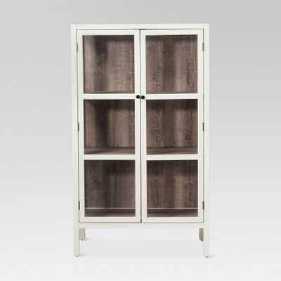 56.2 Hadley Library Cabinet with Glass Shell White - Threshold - Target