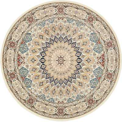 Nain Design Ivory 10 ft. x 10 ft. Round Area Rug - Home Depot