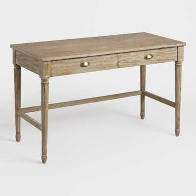 Brown Distressed Wood Paige Desk - World Market/Cost Plus