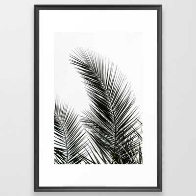 Palm Leaves Framed Art Print by Maboe - Society6
