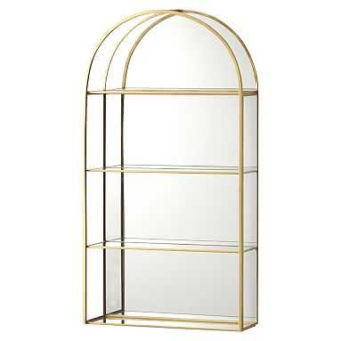 Gold Arched Curio Wall Cabinet, Gold - Pottery Barn Teen