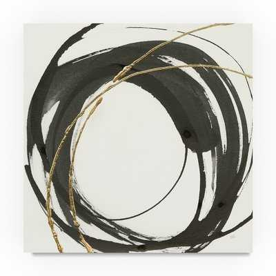 'Gilded Enso IV' Acrylic Painting Print on Wrapped Canvas - Wayfair