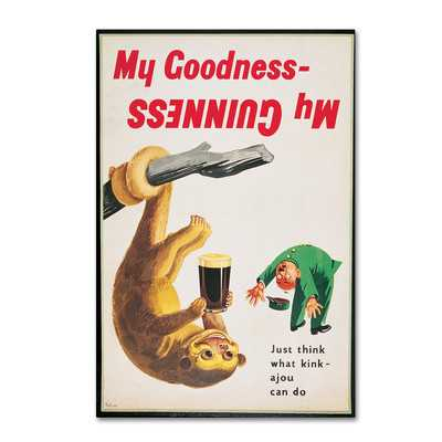 "My Goodness My Guinness IV"" by Guinness Brewery Vintage Advertisement on Wrapped Canvas - Wayfair"