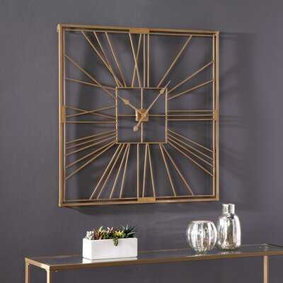 Oversized Mebane Art Deco Decorative Wall Clock - Wayfair