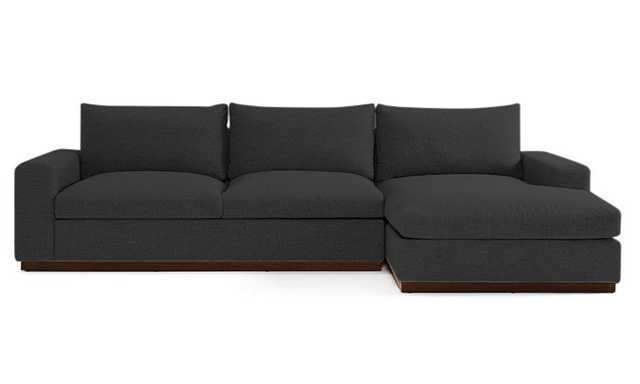 Black Holt Mid Century Modern Sectional with Storage - Chance Charcoal - Mocha - Right - Joybird