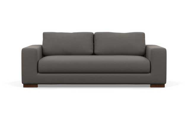 Henry Sofa with Zinc Fabric and Oiled Walnut legs - Interior Define