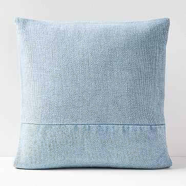 "Cotton Canvas Pillow Cover, Blue Bird, 24""x24"" - West Elm"