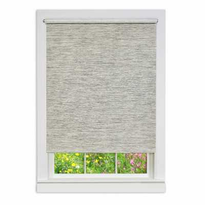 Achim Heather Gray Cordless Paper Privacy Roller Shade - 27 in. W x 72 in. L - Home Depot