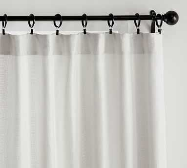 "Basketweave Slub Curtain, 50 x 96"", Ivory - Pottery Barn"
