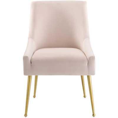 MODWAY Discern Pink Upholstered Performance Velvet Dining Chair - Home Depot