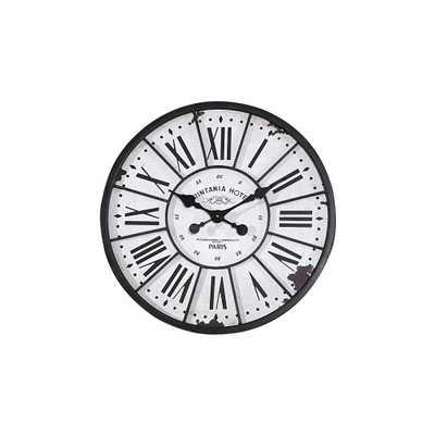 Southampton Round Wall Clock, Black And White - Home Depot