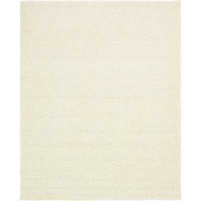 Solid Shag Snow White 8' x 10' Rug - Home Depot