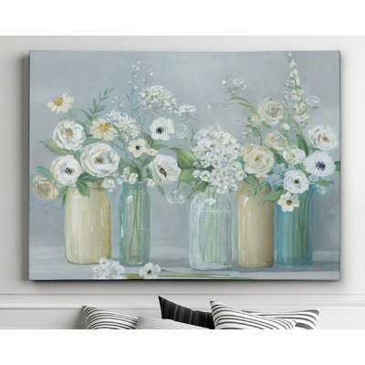 Blooming Meadow Beauties' Watercolor Painting Print on Wrapped Canvas - Wayfair