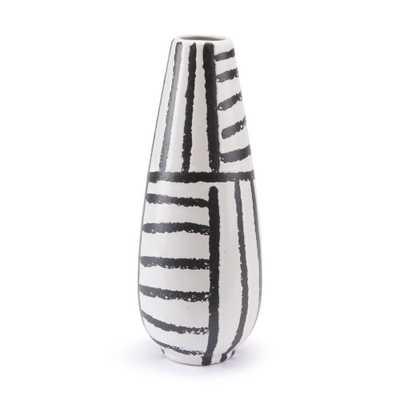 ZUO Black and White Croma Medium Decorative Vase, Black & White - Home Depot
