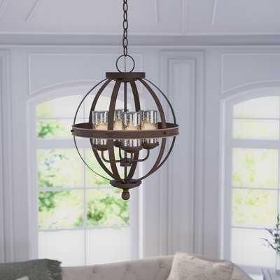Donna 4 - Light Shaded Globe Chandelier - Birch Lane