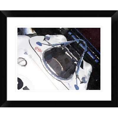 'Racing Car Cockpit' Framed Watercolor Painting Print - Wayfair