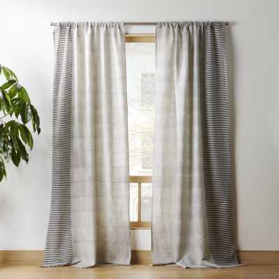"""block printed stripe curtain panel 48""""x120"""""" - CB2"