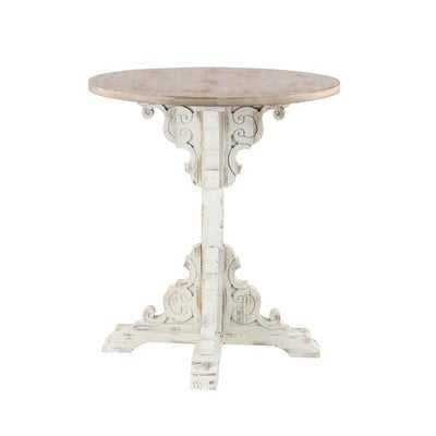 Chambery Traditional Round Wood End Table - Wayfair