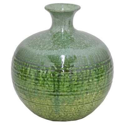 Green Drip Ceramic Vase - Home Depot