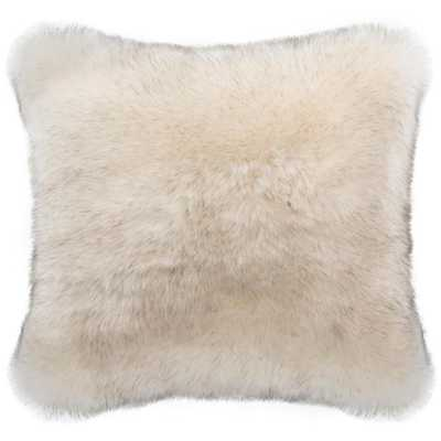 Coco Tips Faux Plush Fur Pillow, Brown - Home Depot