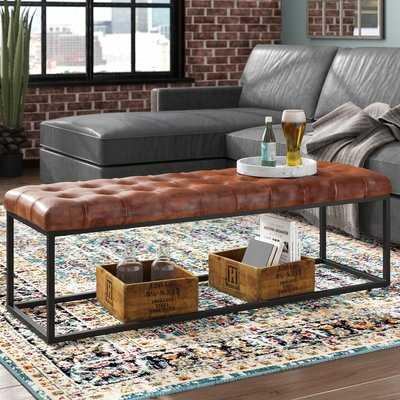 Lorilee Genuine Leather Bench - AllModern