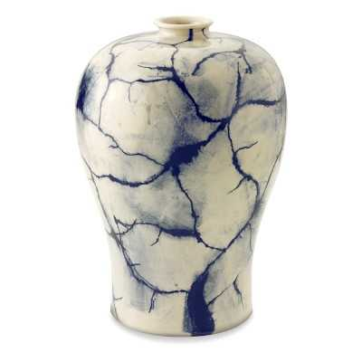 Marbleized Ceramic Vessel, Medium, Navy - Williams Sonoma