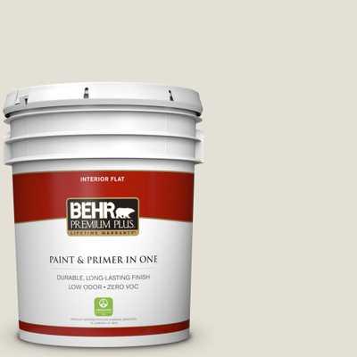 BEHR Premium Plus 5 gal. #ecc-15-2 Light Sandstone Flat Zero VOC Interior Paint and Primer in One - Home Depot