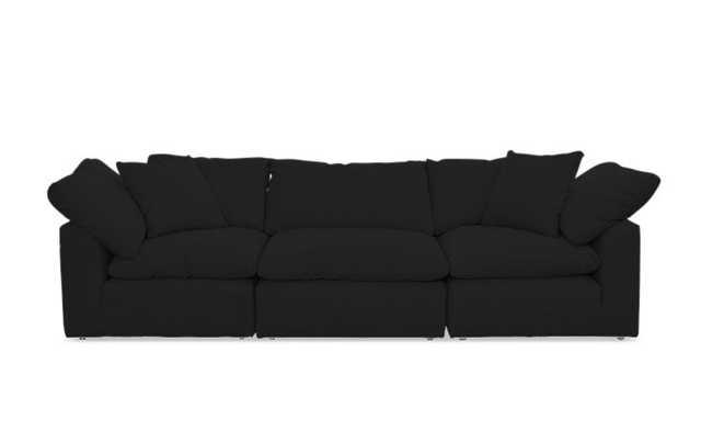 Black Bryant Mid Century Modern Modular Sofa (3 piece) - Chance Charcoal - Joybird