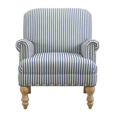 Joy Blue Accent Chair, Blue/White Stripes - Home Depot