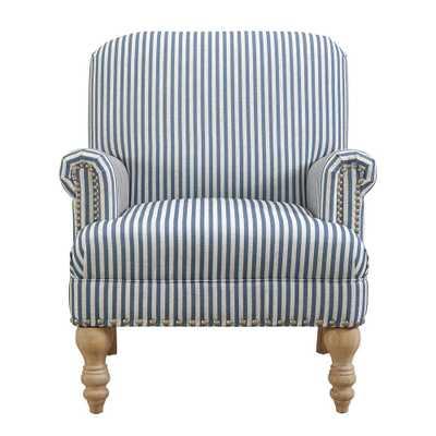 Joy Blue Accent Chair, Blue/White Stripes - Home Depot