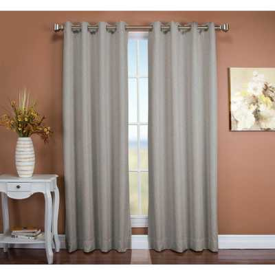 Ricardo Trading Blackout Tacoma Double BlackoutCurtain 50in.Wx96in.L Stone (Grey) Polyester Face and LinerFabric Both Woven with Blackout Yarns - Home Depot
