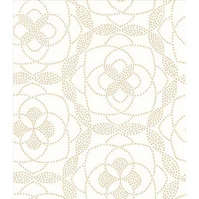 Cosmos Gold Dot Wallpaper - Home Depot