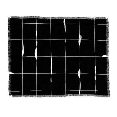 "Iveta Abolina Between the Lines Black Throw Blanket - 50"" x 60"" - Wander Print Co."