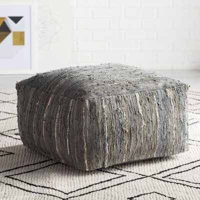 Bolin Leather Pouf - Wayfair