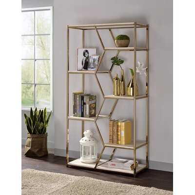 Pateros Geometric Bookcase - Wayfair