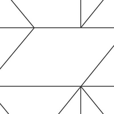 Black and White Kellys Geo Removable Wallpaper - Home Depot