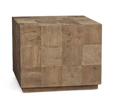 Patchwork Reclaimed Wood End Table - Pottery Barn