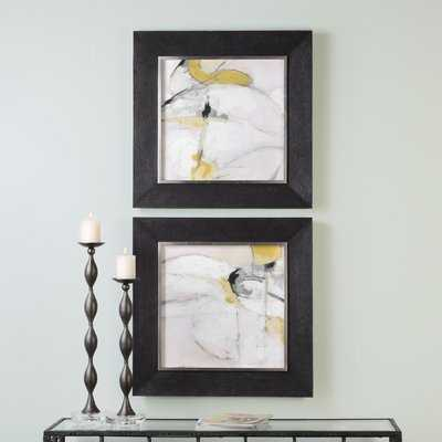 Trajectory Modern Abstract 2 Piece Framed Painting Print Set - Wayfair