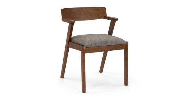 Zola Volcanic Gray Dining Chair - Article