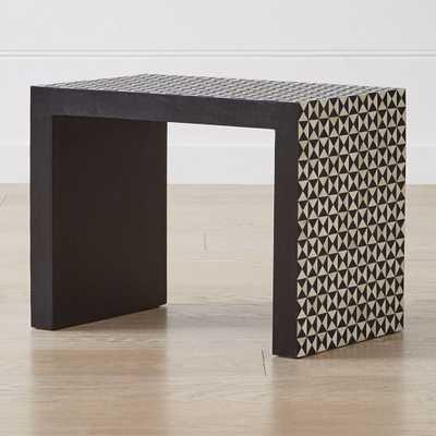 Intarsia Black C Table - Crate and Barrel