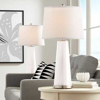 Smart White Leo Table Lamp Set of 2 - Style # 17T21 - Lamps Plus
