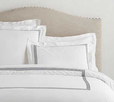 Grand Organic Duvet Cover, King/Cal. King, Midnight - Pottery Barn