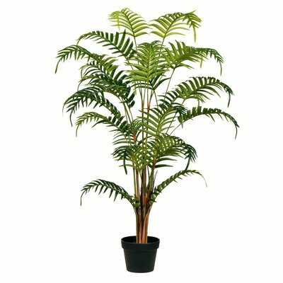 Real Touch Leaves Palm Tree in Pot - Wayfair