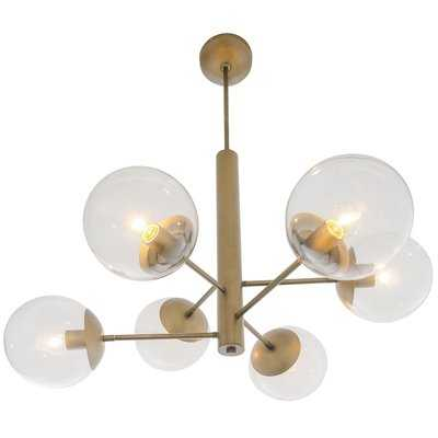 Citium 6-Light Sputnik Modern Linear Chandelier - AllModern