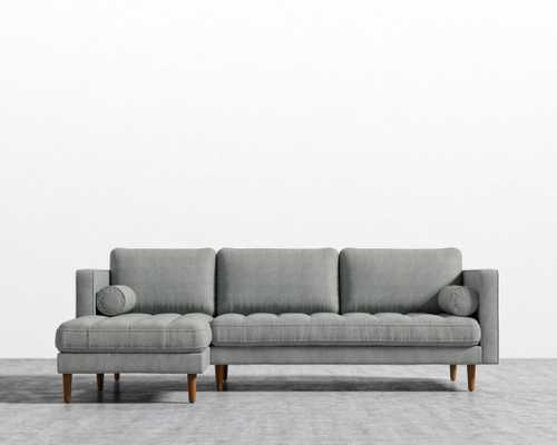 Luca Sectional - Mist Right-hand-facing Brown - Luca - Rove Concepts