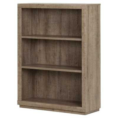 Kanji 3-Shelf Bookcase 46.25 Weathered Oak - South Shore - Target