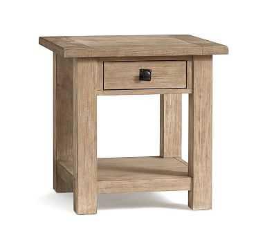 Benchwright Square Side Table, Seadrift - Pottery Barn