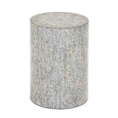 Borger Mosaic Wood Accent Stool - AllModern