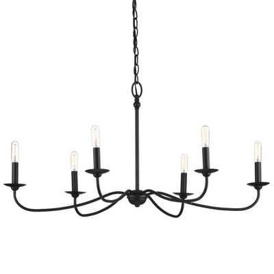 Progress Lighting Pacolet 6-Light Textured Black Chandelier - Home Depot