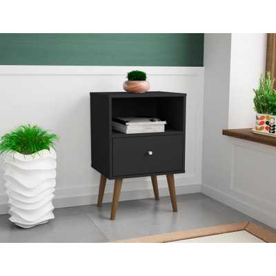 Liberty 1.0 Black Nightstand - Home Depot